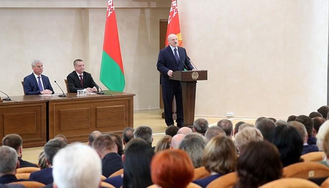 В Белорусско-Российском университете состоялась встреча Президента Республики Беларусь А. Г. Лукашенко с представителями Могилевской области